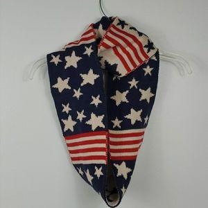 Vintage Style American Flag Patriotic Scarf